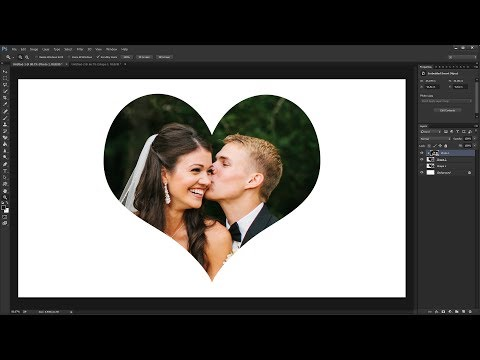 How to Make & Crop Heart Shape Photo in Photoshop