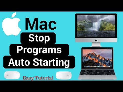 Mac: Stop Programs From opening on Startup