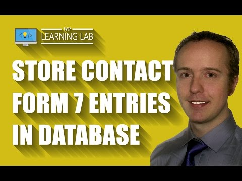 Contact Form 7 DB - Save Submissions To Your WordPress Database | Contact Form 7 Tutorials Part 16