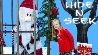 SANTA Hide N Seek Game with Assistant Mickey Mouse + Paw Patrol Winter Fun Video