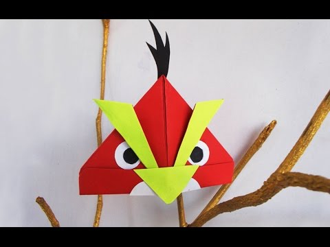 Fun crafts for Kids : Angry Bird Crafts Ideas for kids I Simple Origami Bird | Kids Activities