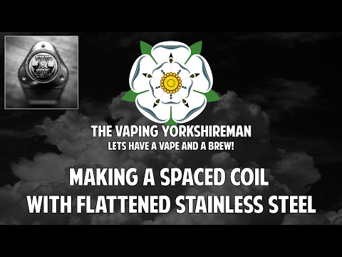Making a spaced, flattened stainless coil.