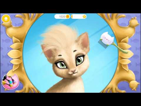 Fun Baby Kitten Care | Learn Colors Kids Games Makeup Dress Up Cat Hair Salon Birthday Party