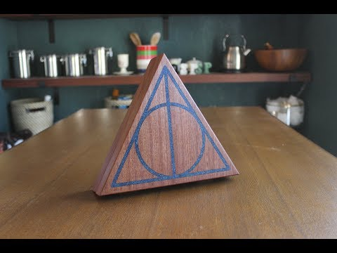 Making a Deathly Hallows Jewelry Box // Using a Planer Sled