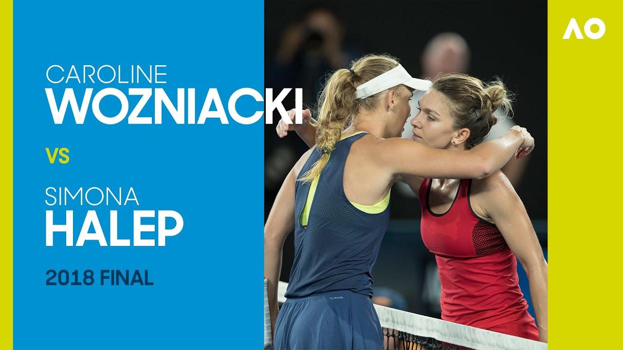 Caroline Wozniacki vs Simona Halep Full Match | Australian Open 2018 Final