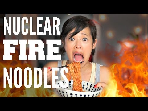 NUCLEAR FIRE Noodle CHALLENGE | Samyang 2x Spicy Chicken Ramen