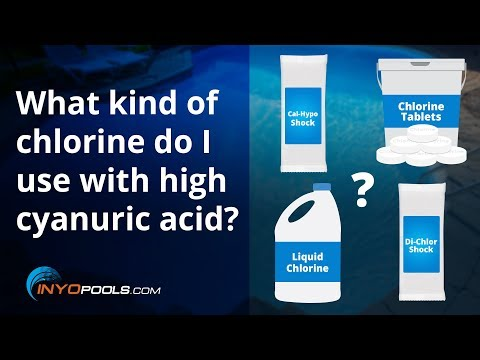 What kind of chlorine do I use with high cyanuric acid?