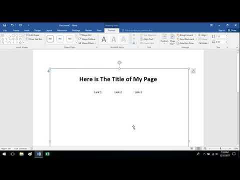 Very Basic Storyboarding for Web Design - Microsoft Word