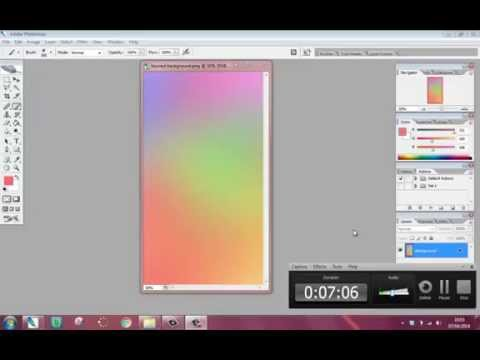 Create A Simple Blurred Colour Background in Photoshop