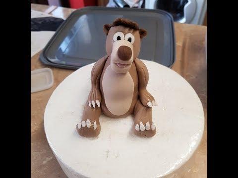 baloo bear Brown bear cake topper tutorial jungle book
