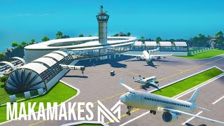 Building a HUGE AIRPORT in Fortnite Creative!