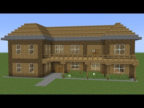 Minecraft - How to build a wooden house 3