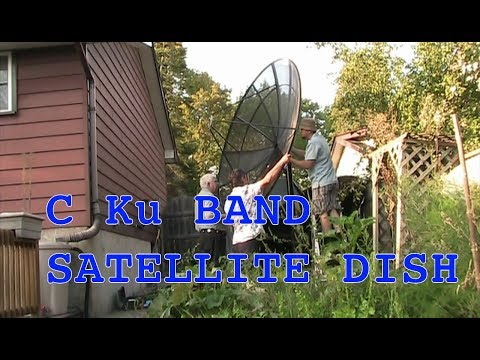Setting up a C Ku Band Satellite Dish Part 2 Dish, LNB, Actuator setup