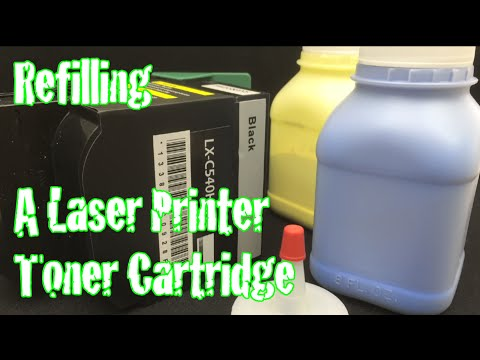 How To Refill A Color Laser Printer Toner Life Hack Lexmark C543dn