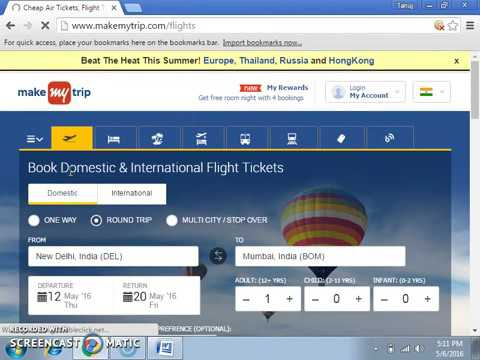 How to Buy Air ticket online in low cost from makemytrip