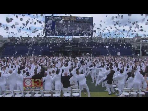 U.S. Naval Academy Midshipmen Class Of 2017 Graduates