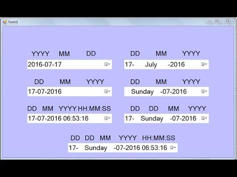 Set Different Types Of Custom Date Format in DateTimePicker in C#