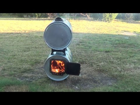Wood Barrel Stove For Greenhouse