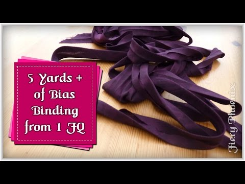 Make Over 5m of Bias Binding from 1 Fat Quarter:: by Babs at MyFieryPhoenix