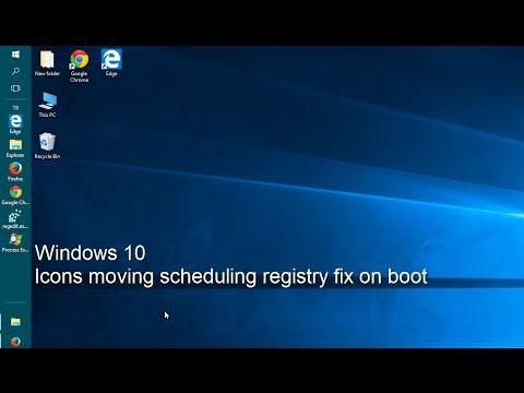 Windows 10 - Stop Desktop Icons Moving scheduling keys to be written on restart