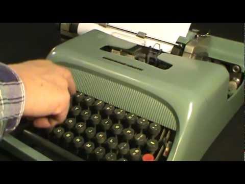 Restore Vintage Manual Typewriter UNDERWOOD OLIVETTI STUDIO 44 repair.