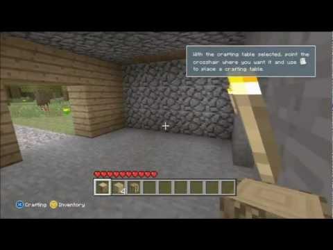 Minecraft for xbox 360 NPC Village confirmation (tutorial gameplay)