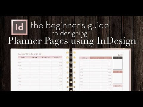 How to Design Planner Pages in InDesign | A Beginner's Guide