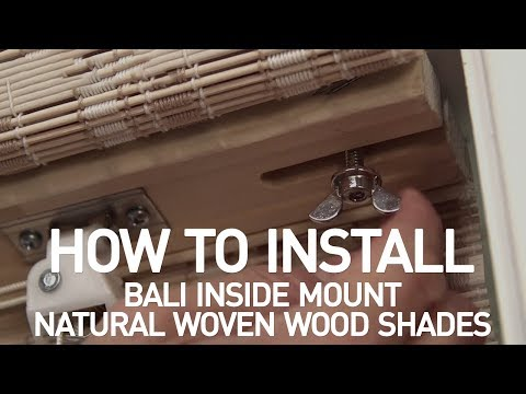 How to Install Bali® Natural Woven Wood Shades with Cord Lift - Inside Mount
