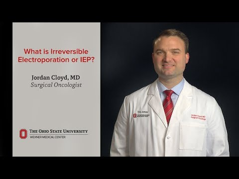 What is irreversible electroporation or IEP?