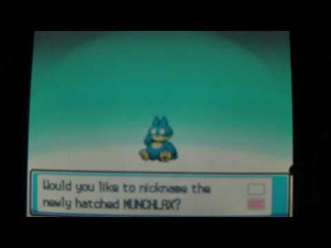 How to get Munchlax - Pokemon Heart Gold and Soul Silver