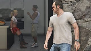GTA 5 - What Franklin and Tracey Do In Franklin's House? (After Michael's Death)