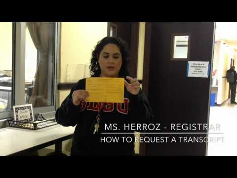 How to request a transcript
