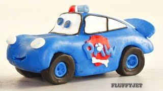 Cars 3 Lightning McQueen PAW PATROL Play Doh Stop Motion video Disney Pixar Cars Toys kids playtime