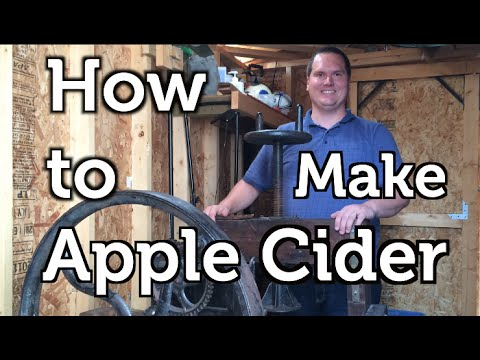 How to Press Apple Cider using Rescued Fruit and an Antique Cider Mill