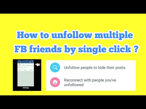 How to Unfollow Multiple FB friends By Single Click?