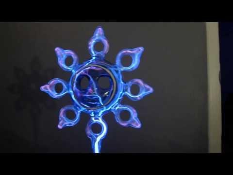 Collaborative plasma sculpture: Adam Sultan (lampworker) and Carl Willis (plasmafier)