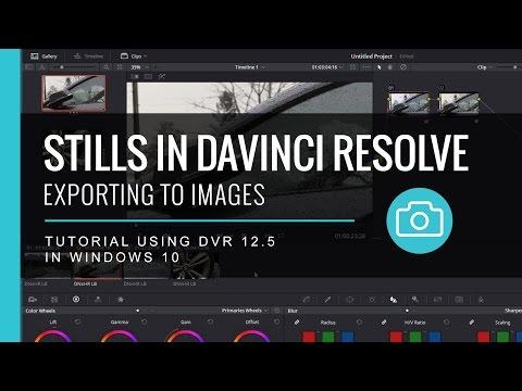Exporting Stills in Davinci Resolve