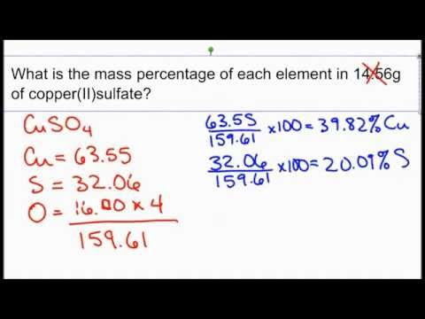How to calculate mass percentage.