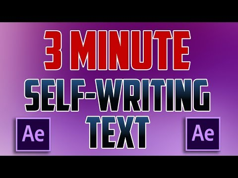 After Effects CC : How to do Writing Text Animation Effect (Self-Writing Text)