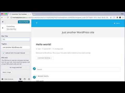 Create Your Title & Tagline in WordPress #14