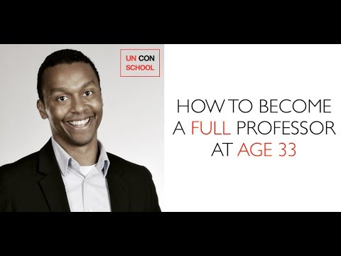 How to become a FULL professor at age 33
