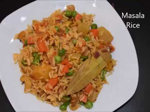 Masala Rice Recipe | Mixed Vegetable Rice | Quick  Leftover Rice Recipe | Lunch box recipe