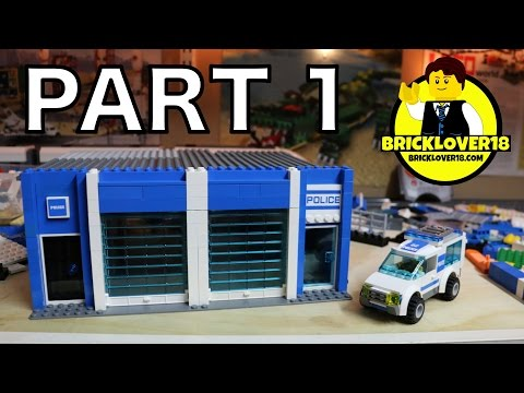 BUILDING a LEGO POLICE STATION - PART 1/4