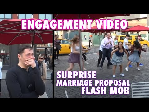 Romantic Surprise Flash-Mob Marriage Proposal - Watch the Reaction! - Gay Couple in Love