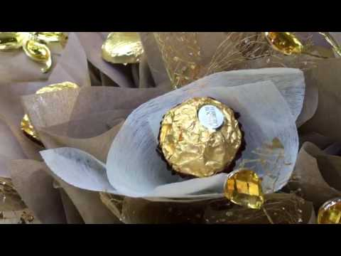 Stunning Gold Ferrero Rocher Chocolate bouquet