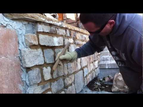 How to use a grout bag Grouting veneer stone Part 2