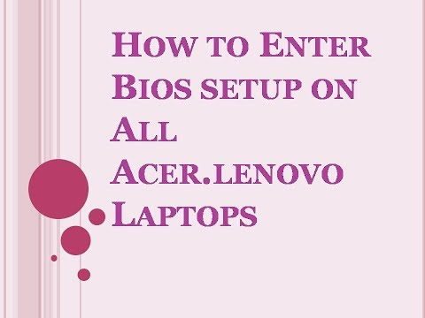 Acer Aspire Laptop Boot Menu & Boot Manager BIOS Option