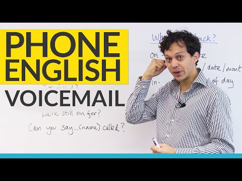 Phone English – Leaving VOICEMAIL