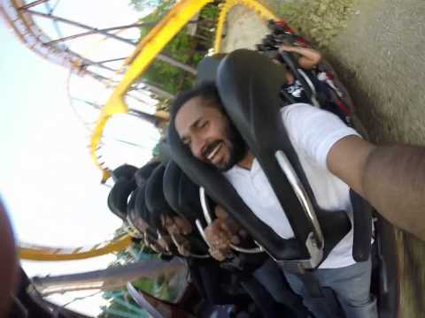 Georgia Scorcher roller coaster video