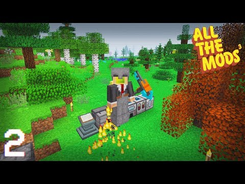 All The Mods 3 | Tree Power, Disassembler & Jetpack! | E02 (All The Mods 3 Let's Play)